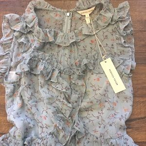 7ccd180eaa84b Rebecca Taylor Dresses - Rebecca Taylor Sleeveless Vine Ruffle Dress (Mint)